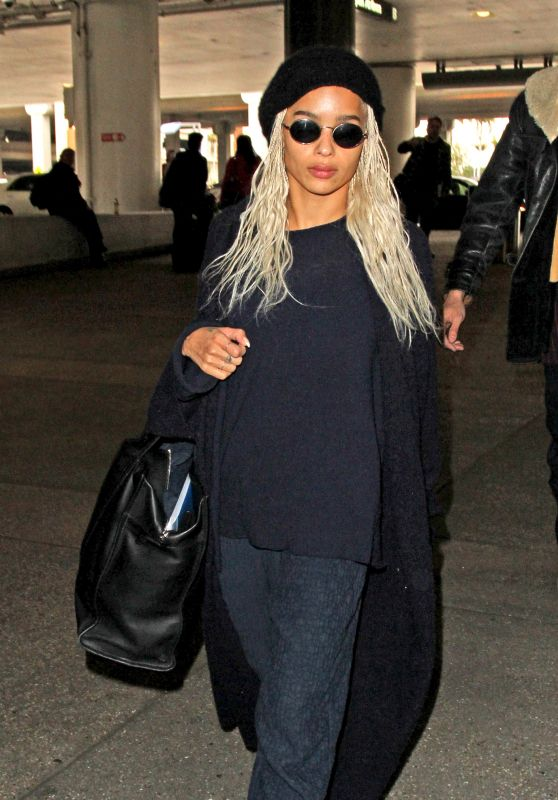 Zoe Kravitz Travel Style - LAX airport in Los Angeles 2/27/ 2017