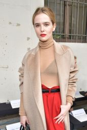 Zoey Deutch at the Max Mara Show in Milan Fashion Week 2/23/ 2017