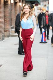 Zoey Deutch Shows Off Her Eclectic Style - Arriving to Appear on The Late Show with Stephen Colbert in NYC 2/27/ 2017