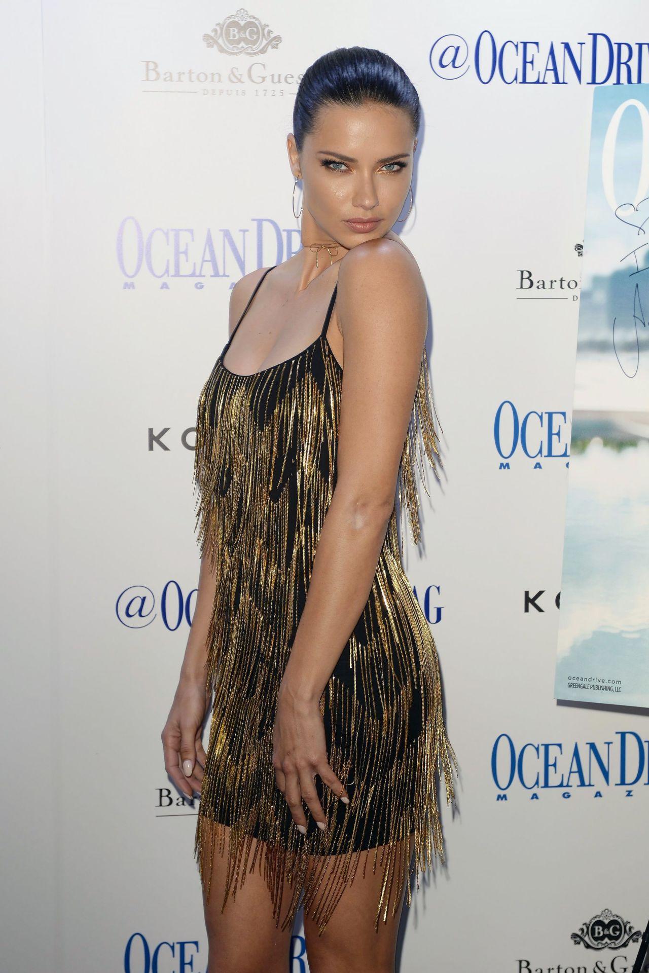 Adriana Lima Ocean Drive Magazine S Cover Event In Miami
