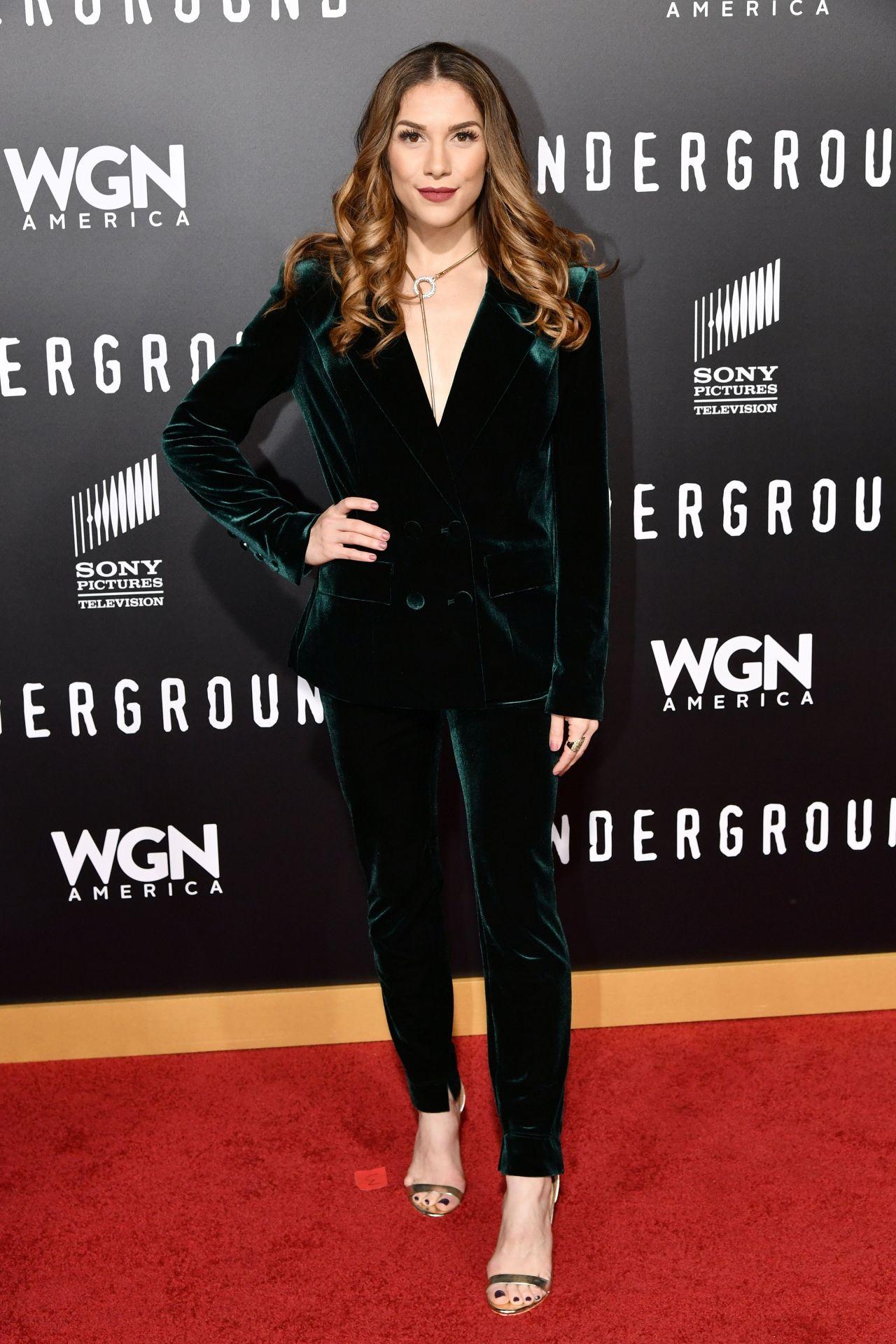 Allison holker at underground tv series season 2 premiere in los angeles