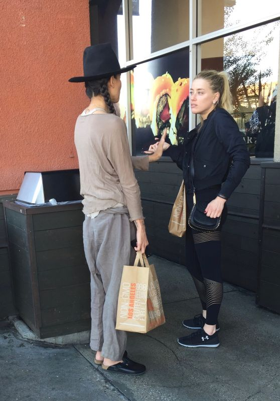 Amber Heard - Meets Up With Her Ex-Girlfriend Tasya Van Ree in Los Angeles 3/13/ 2017