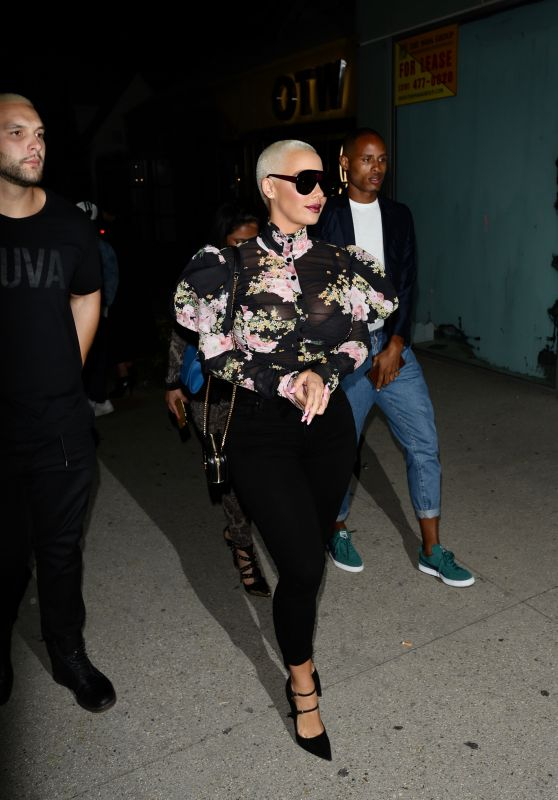 Amber Rose Night Out Style - Los Angeles 3/11/ 2017