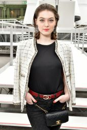 Anamaria Vartolomei at Paris Fashion Week - Chanel Show 3/7/ 2017