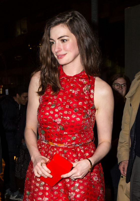 """Anne Hathaway - """"Colossal"""" Premiere After-Party in NYC 3/28/2017"""