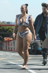 Ashley Graham in a Floral Bikini - Photoshoot in Los Angeles 3/23/ 2017