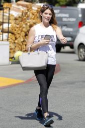 Ashley Greene in Spandex - Shopping at Bristol Farms in West Hollywood 3/28/2017