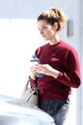 Ashley Greene - Leaves the Gym Without Make-up, Los Angeles 3/27/2017