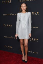 "Ashley Madekwes on Red Carpet – ""The Zookeeper's Wife"" Premiere in Los Angeles"
