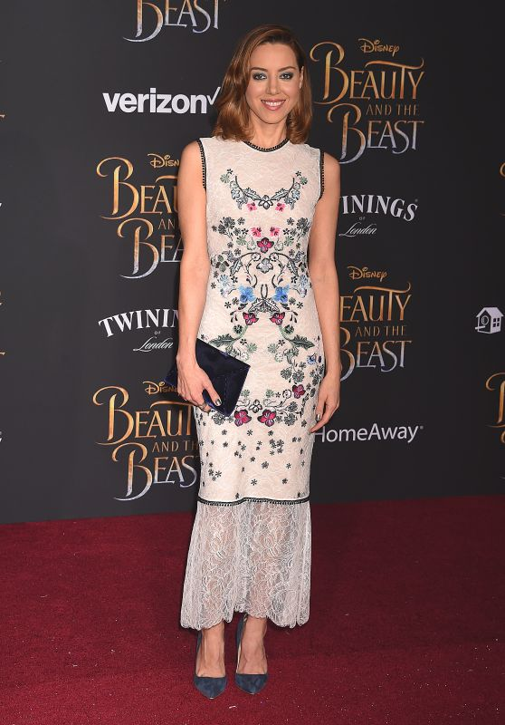 Aubrey Plaza – Beauty And The Beast Movie Premiere in Los Angeles 3/2/ 2017