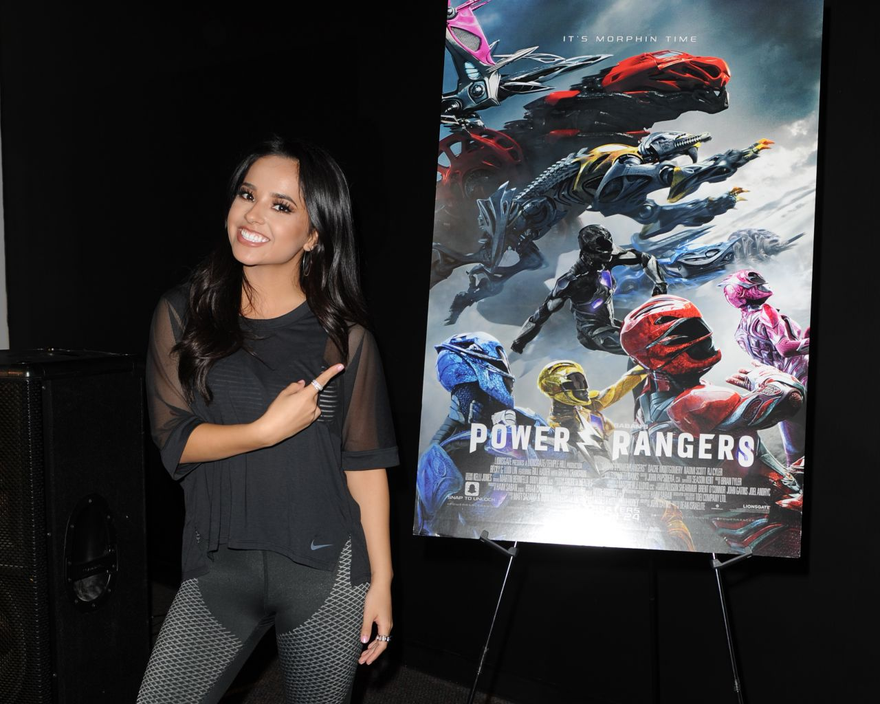 Becky G - Power Rangers Fan Event at IHeartRadio Station Y100 in