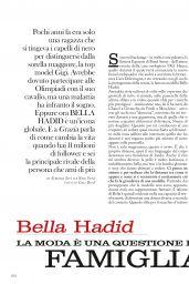 Bella Hadid – Grazia Italia N12, March 9th, 2017