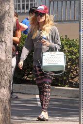 Beth Behrs Street Style - Shopping in Los Feliz 3/20/ 2017