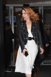 Billie Piper Style - Leaving BBC Radio 2 in London 3/10/ 2017
