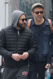 Blake Lively, Jake Gyllenhaal and Ryan Reynolds Hanging Out in NYC 3/30/2017