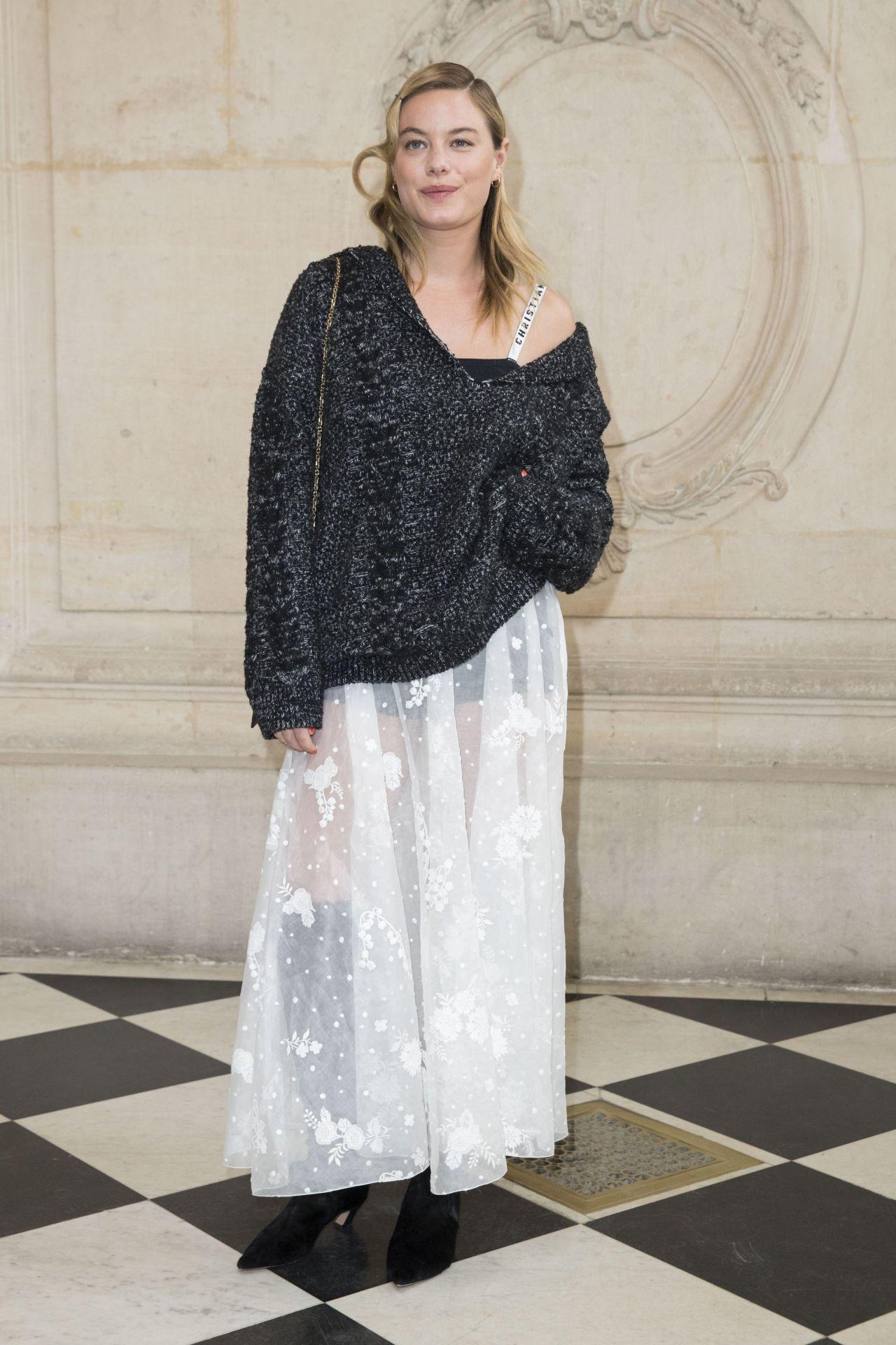 Camille Rowe at Paris Fashion Week – Christian Dior Show 3/3/ 2017