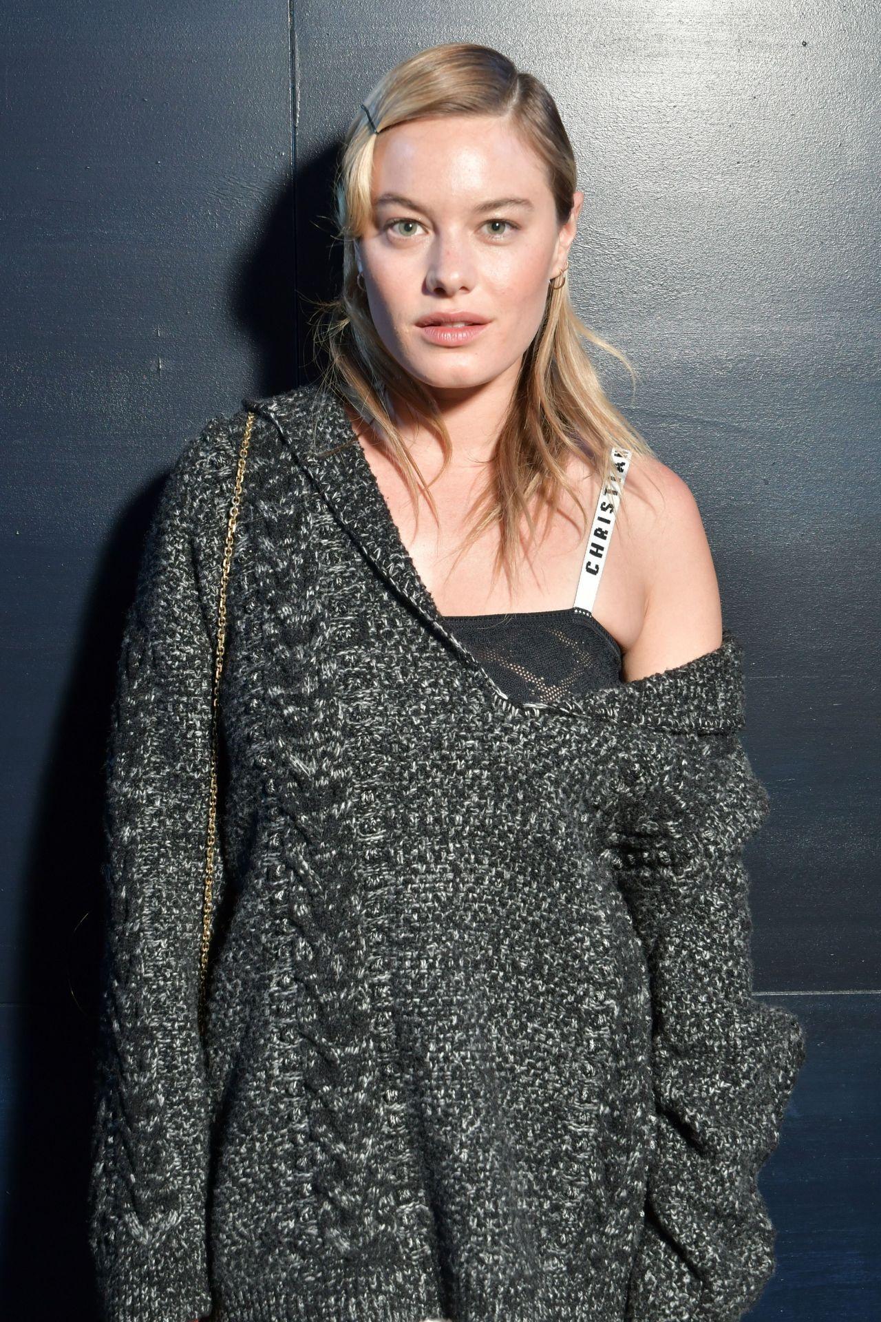 Camille Rowe At Paris Fashion Week Christian Dior Show 3