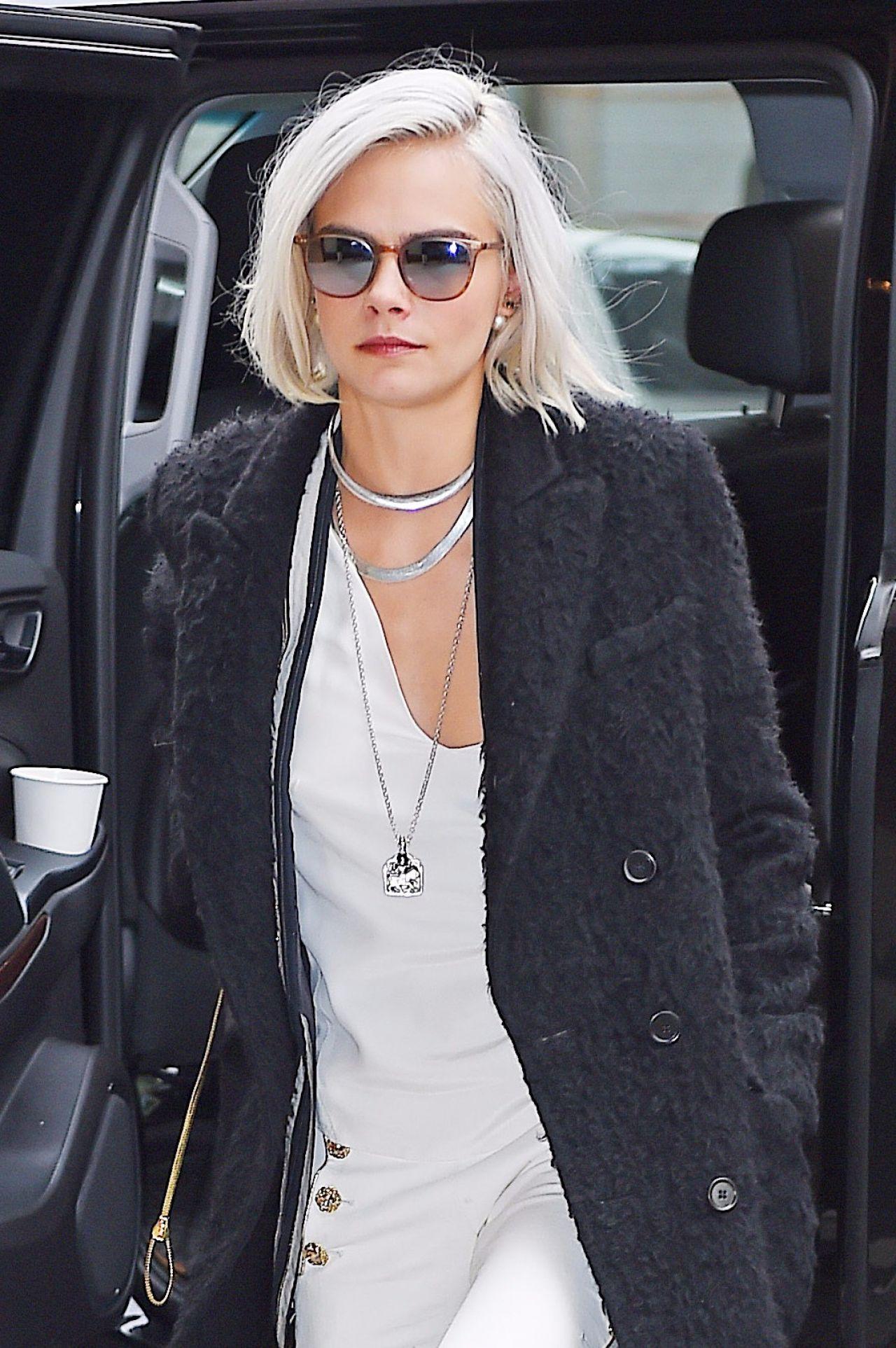 Cara Delevingne Is Stylish Arrives Back At Her Tribeca