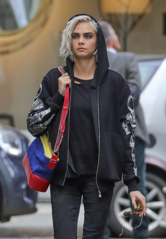 Cara Delevingne Urban Style - Paris, France 3/22/ 2017