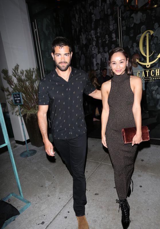 Cara Santana and Jessie Metcalfe - Leave Catch LA Restaurant 3/14/ 2017
