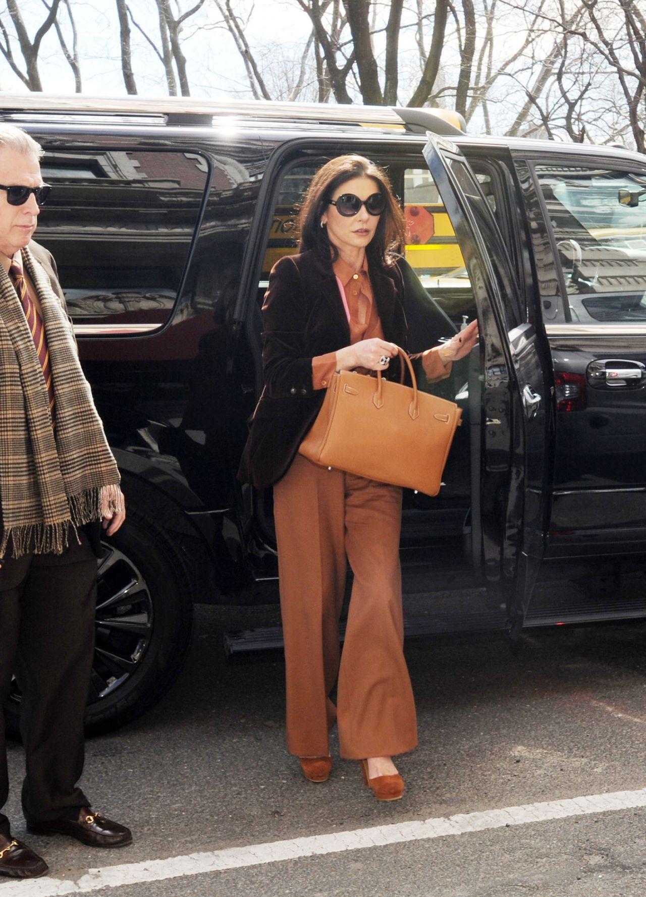 Catherine Zeta-Jones Looking Chic - NYC 3/30/2017