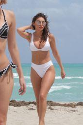 Chantel Jeffries in White Bikini at Miami Beach 3/25/ 2017