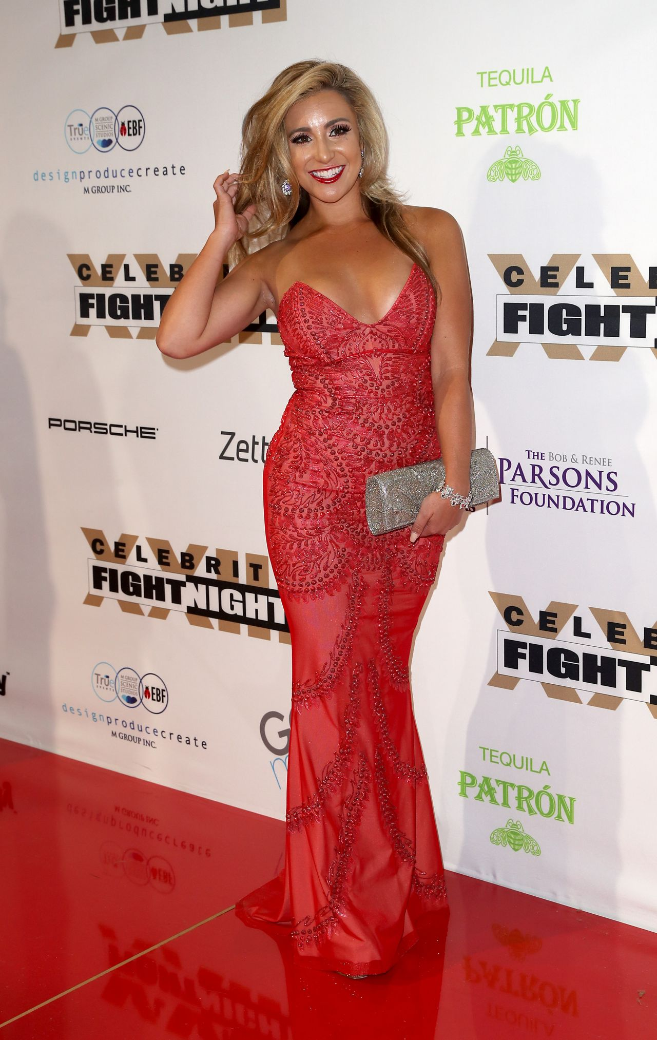 Chelsea Pezzola at Muhammad Ali's Celebrity Fight Night in