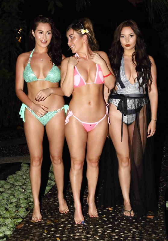 Chloe Goodman, Lauryn Goodman & Amelia Goodman on holiday in the Maldives 3/26/ 2017