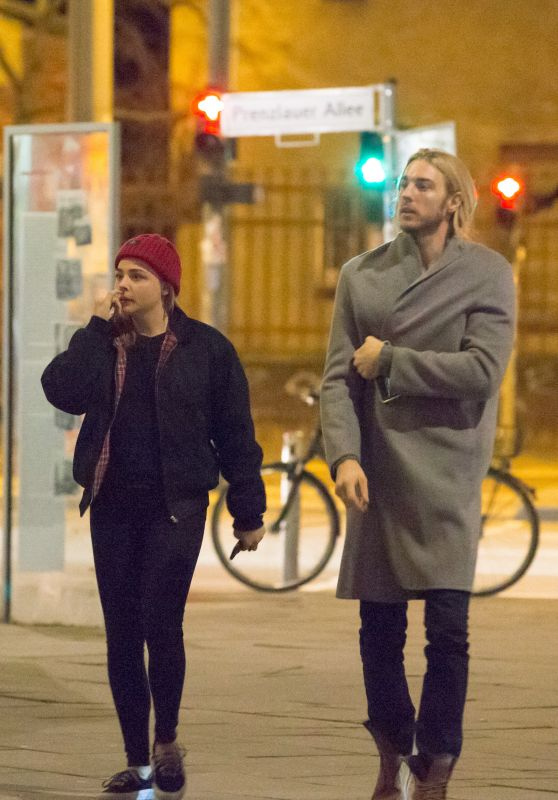 Chloe Grace Moretz and Her Brother in Front of Soho House Hotel in Berlin 3/5/ 2017