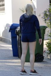 Chloe Grace Moretz Shows Off Her Legs in a Pair of Shorts - Los Angeles 3/28/2017