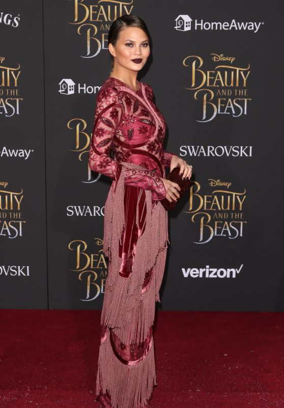 Chrissy Teigen at 'Beauty and the Beast' Premiere in Los Angeles 3/2/ 2017