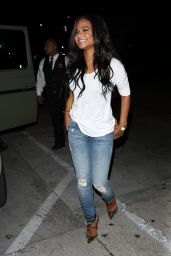 Christina Milian - Leaving Catch Restaurant in West Hollywood 3/28/2017