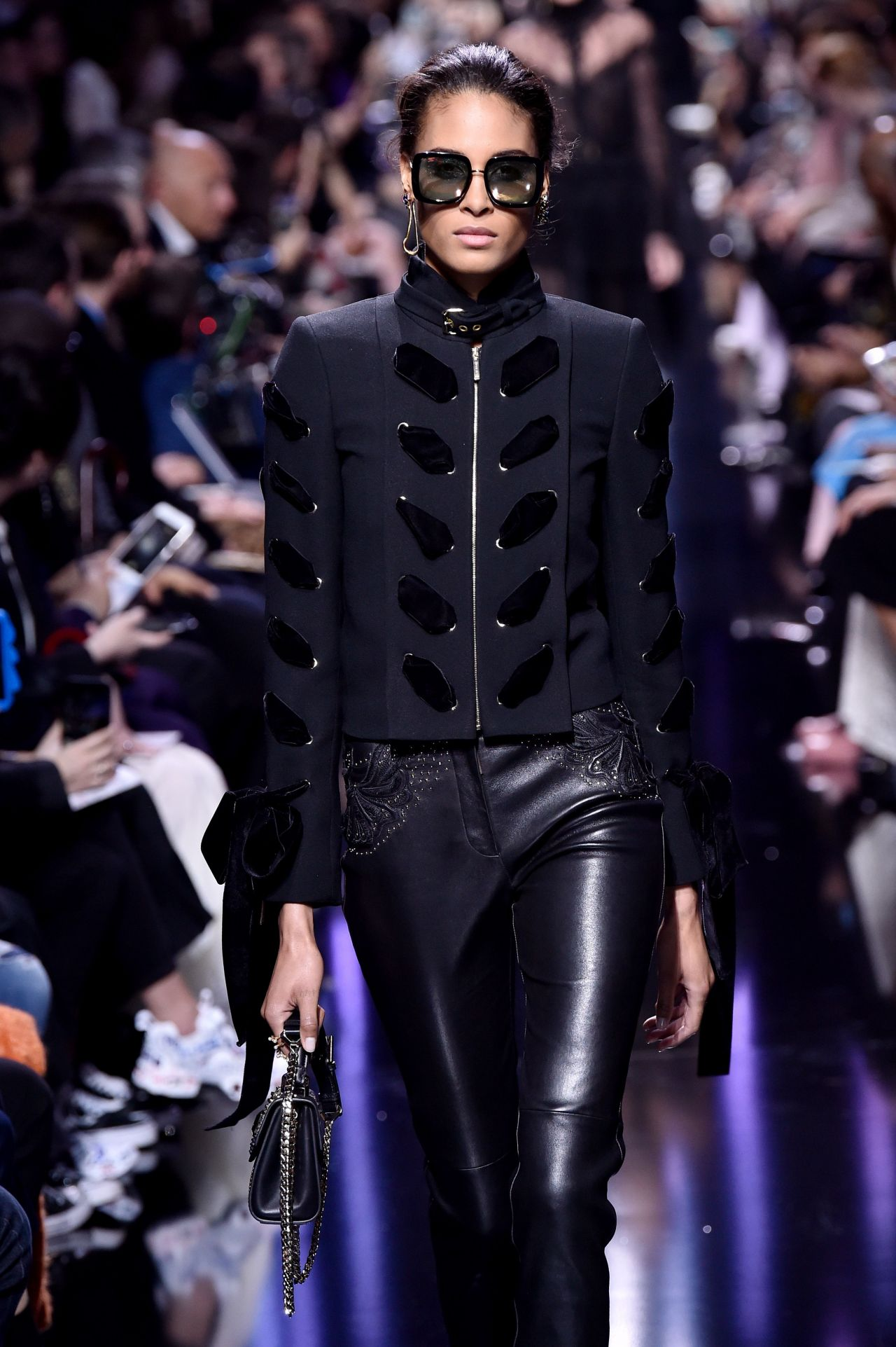 Cindy Bruna Elie Saab Show Runway On Paris Fashion Week