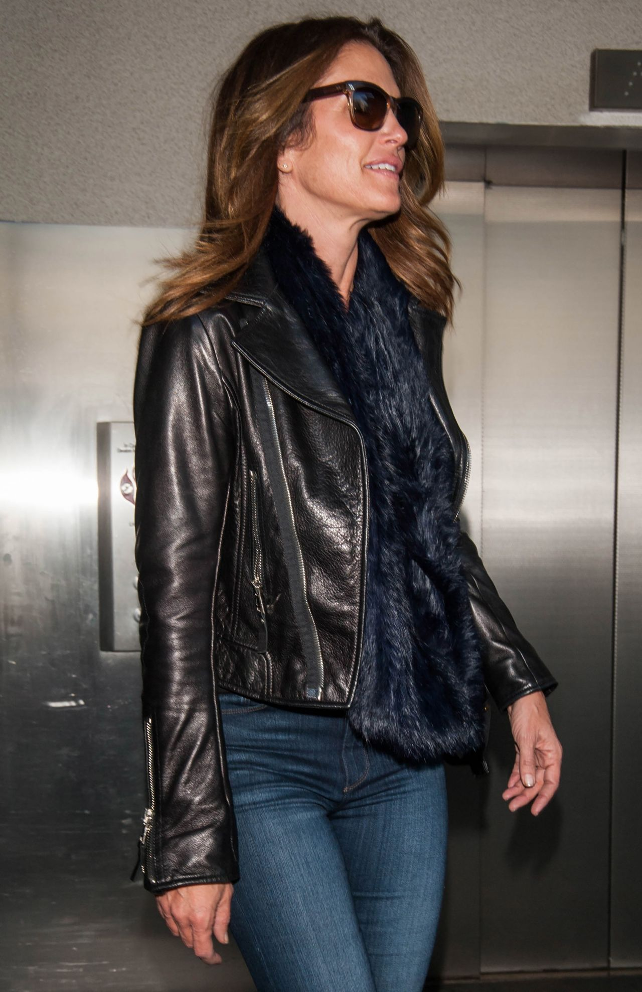 Cindy Crawford At The Lax Airport In Los Angeles 03 12 2017