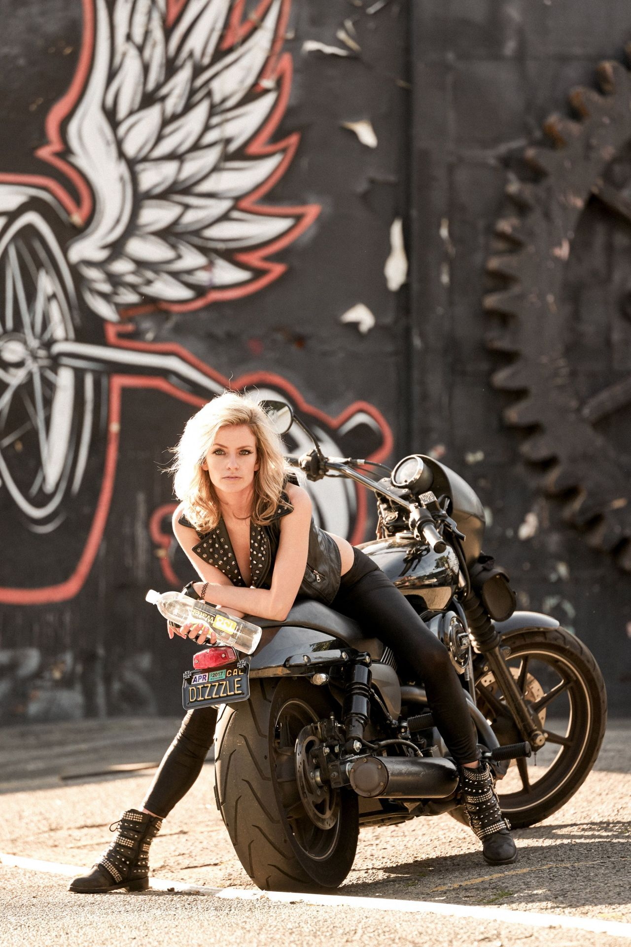 Cody Renee Cameron Poses for Bikers Themed Photoshoot in