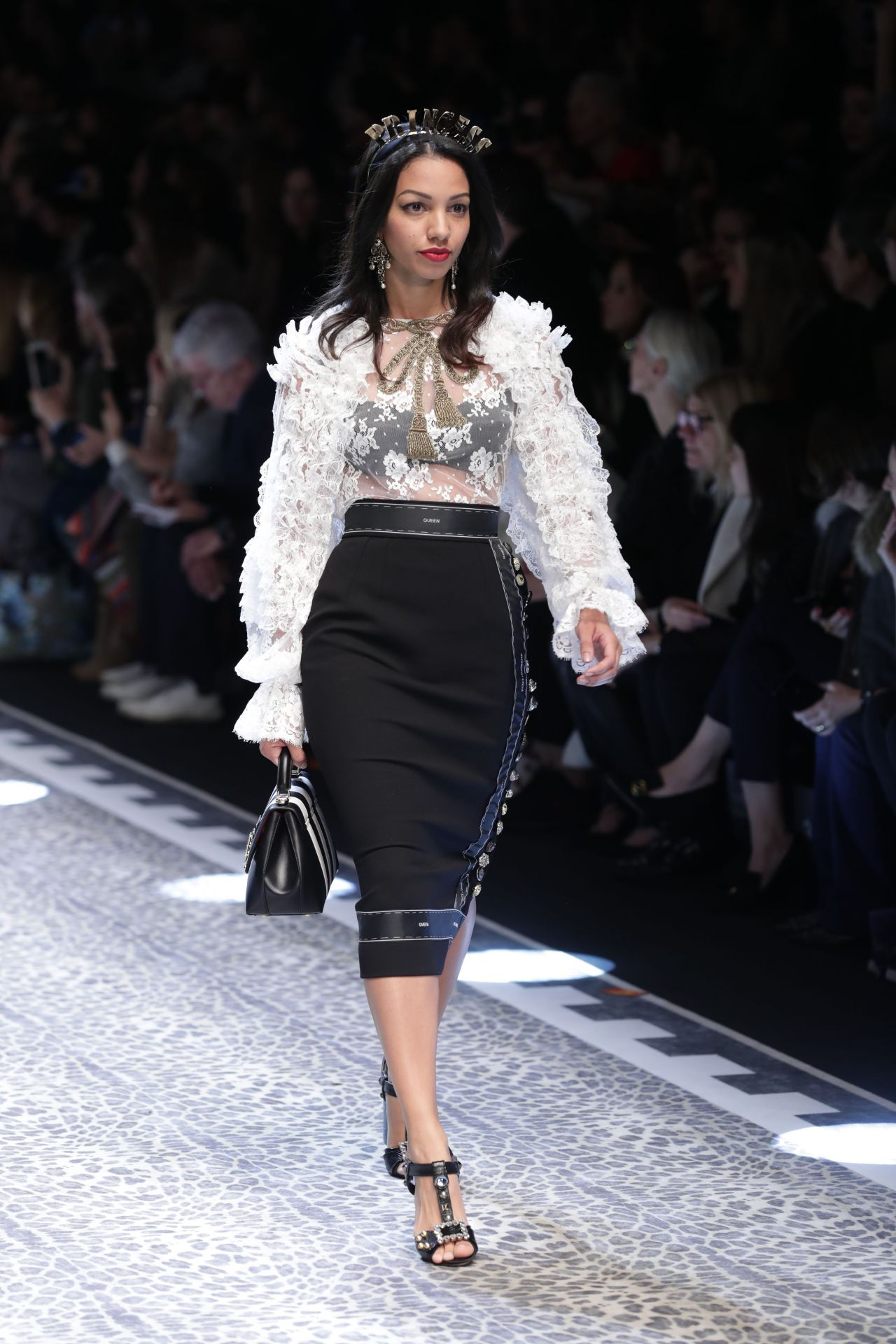 Corinne Foxx - Dolce Gabbana MFW Womens Runway in Milan, February 2017