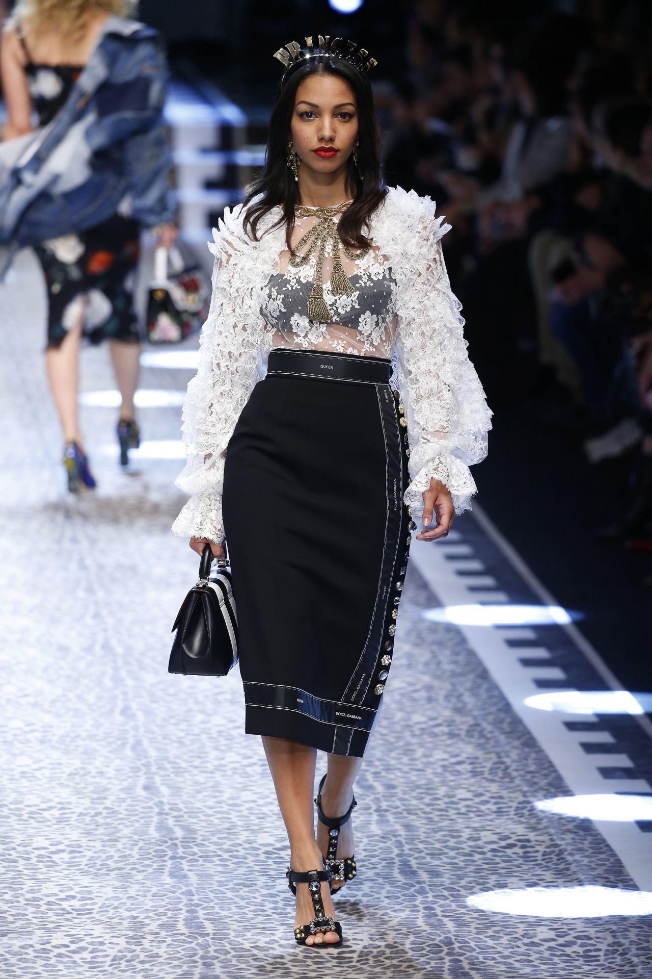 Corinne Foxx Dolce Gabbana Mfw Womens Runway In Milan
