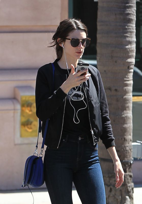 Crystal Reed Chats on Her Phone - Beverly Hills, CA 3/29/2017