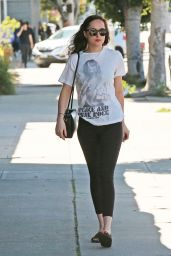 Dakota Johnson in Tights - Shopping in Los Angeles 3/27/2017