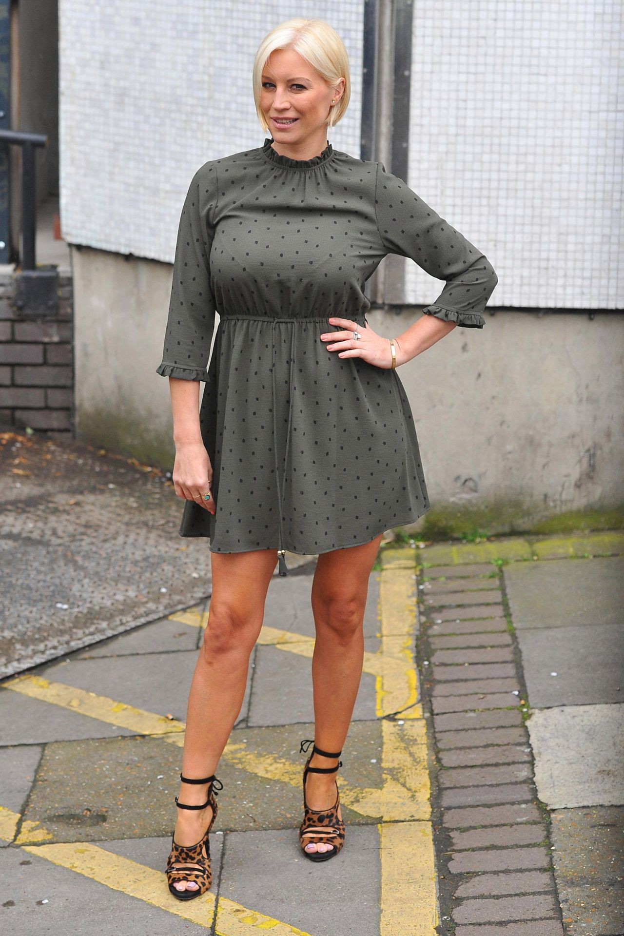 Denise Van Outen In Mini Dress Outside Itv Studios In