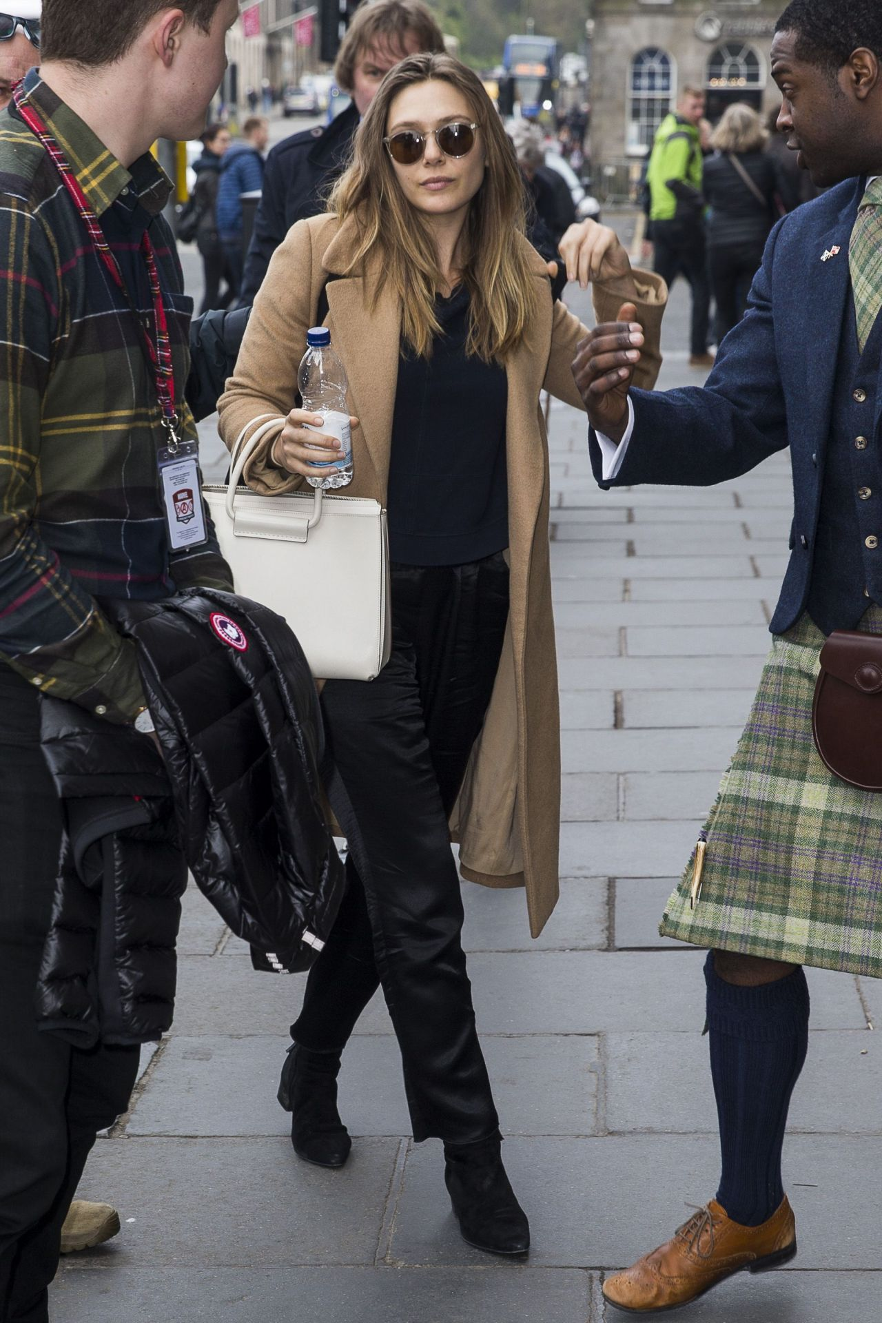 Elizabeth Olsen Arrives At Her Hotel In Edinburgh