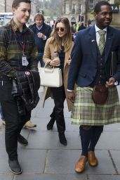 Elizabeth Olsen Arrives at Her Hotel in Edinburgh, Scotland 3/28/2017