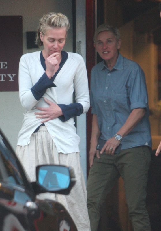 Ellen DeGeneres & Portia De Rossi - Out in West Hollywood 3/12/ 2017