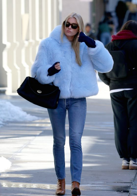 Elsa Hosk Winter Ideas - Out in NYC 3/16/ 2017