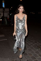 Emily Ratajkowski - Arrives at Lapérouse Restaurant in Paris to Attend the