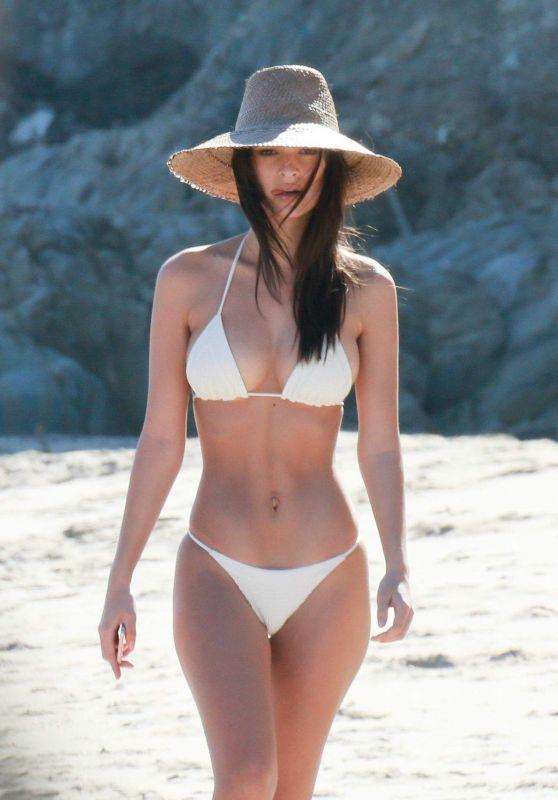 Emily Ratajkowski Hot in White Bikini - Paradise Cove in Malibu 3/9/ 2017