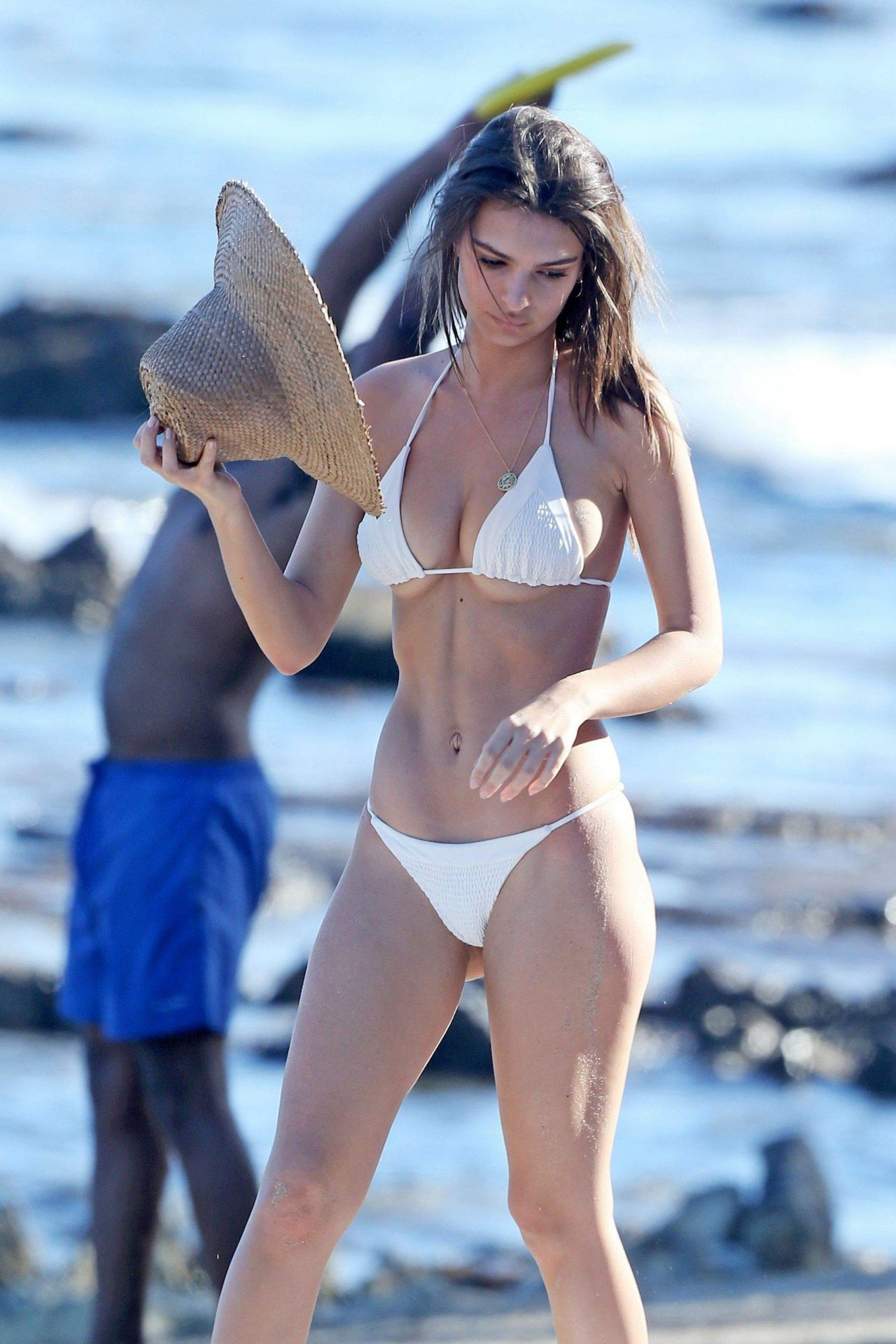 Sophie Mudd in Red Bikini on the beach in Malibu Pic 7 of 35
