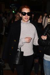 Emma Roberts - Arriving at Paris CDG Airport for Fashion Week 3/1/ 2017