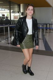 Emma Watson Leggy in Mini Skirt - Arrives at Los Angeles International Airport 3/7/ 2017