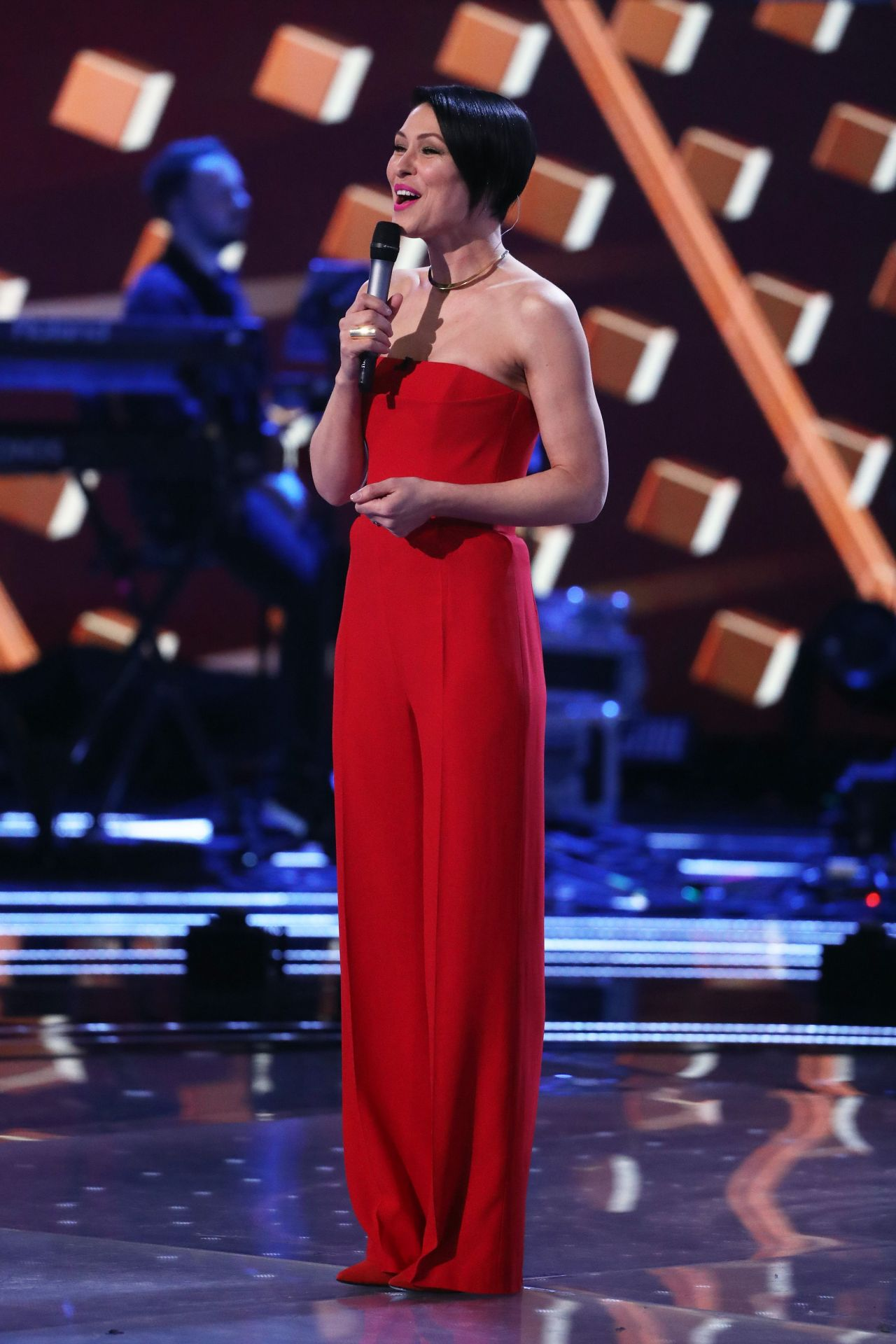 """The Voice Within The Cards: Emma Willis Hosting """"The Voice"""" TV Show In London 3/25/2017"""